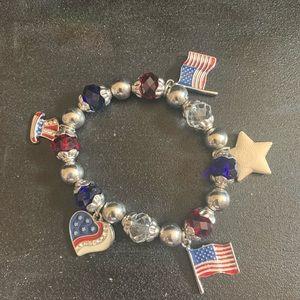 Patriot charm bracelet